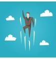 Businessman superhero flight vector image vector image