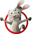 cartoon funny donkey vector image vector image