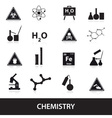 chemistry icons set eps10 vector image vector image