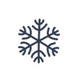 chsnowflake icon black silhouette snow flake sign vector image vector image