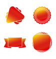 colorful shapes banner icon set eps10 vector image vector image