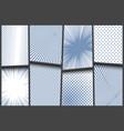 comic monochrome light composition vector image