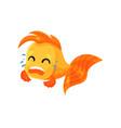 cute goldfish crying funny fish cartoon character vector image vector image
