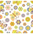 Cute seamless pattern with spring vector image vector image