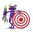 Darts playing frog vector image