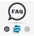 FAQ information sign icon Help symbol vector image vector image