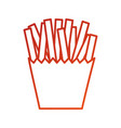 fast food french fries in box carton vector image