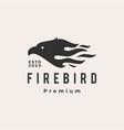fire bird hipster vintage logo icon vector image vector image