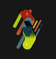 Flat design geometric infographics arrow shape
