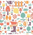 Gardening seamless pattern design with cute flat vector image vector image