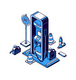 gas station isometric icon refueling petrol diesel vector image