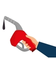 gasoline gun isolated icon vector image vector image
