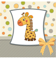greeting card with giraffe toy vector image