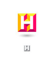 h brick monogram volume illusion monogram vector image vector image