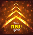 happy new year bright poster vector image vector image