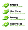 healthy food logotypes eco natural organic vector image