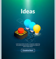 ideas poster of isometric color design vector image vector image