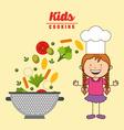 kids cooking design vector image vector image