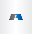 letter a black blue logo logotype symbol vector image vector image