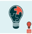 Light bulb icon isolated vector image vector image