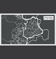 mamoudzou mayotte city map in retro style outline vector image vector image