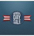 Memorial Day Sale textile Sign and Ribbon vector image vector image