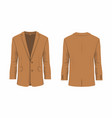 mens brown business suit vector image vector image