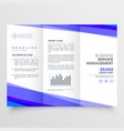 modern trifold leaflet design with business vector image vector image