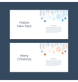 New Year Christmas card template Xmas minimalistic vector image vector image