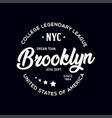 new york city brooklyn theme t-shirt graphics vector image vector image