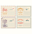 old or retrovintage wedding invitation empty card vector image vector image