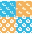 Percent pattern set colored vector image