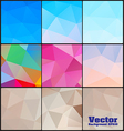 Polygon background colors set vector image vector image