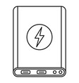 power bank icon outline style vector image