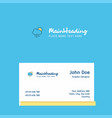 raining logo design with business card template vector image vector image