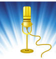 retro gold microphone icon vector image