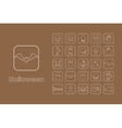 Set of Halloween simple icons vector image vector image