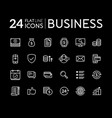 set of line flat icons for business vector image