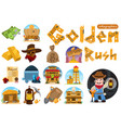 set of on the theme of goldfield wild west vector image vector image