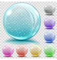 Set of transparent glass spheres vector image vector image