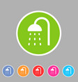 shower douche icon flat web sign symbol logo label vector image