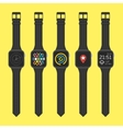 Smart watches icon set vector image vector image