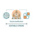 social satisfaction concept icon social hierarchy vector image