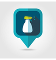 Spray bottle pulverizer sprayer pin map icon vector image vector image
