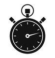 Stopwatch icon simple style vector image vector image