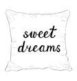 Sweet dreams Brush hand lettering vector image vector image
