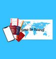 travel concept background vector image