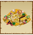 treasures and other riches mountain vector image vector image