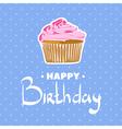 Vanilla cupcake for the birthday vector image vector image