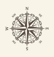 wind rose brown vector image vector image